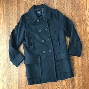 Gap Double Breasted Navy Blue Wool Pea Coat